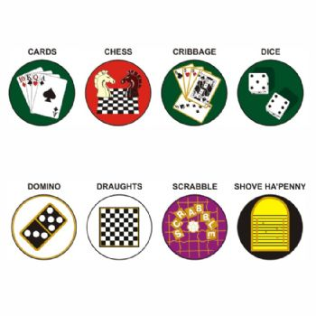 Board & Card Games pk of 5 25mm centres-